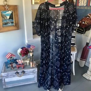 Sheer Blue Kimono